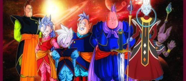 Bills-sama y los supremos Kaioshin del universo 7 y Whis también
