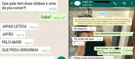 Conversas diferentes de WhatsApp