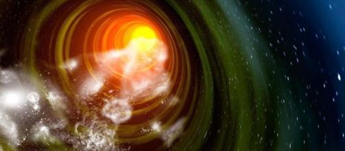 Rappresentazione artistica di un ipotetico 'wormhole' nell'Universo.