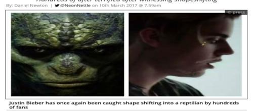 Seria Bieber um reptiliano? Ou apenas um cantor entediado com os fãs? (BuzzFeed)