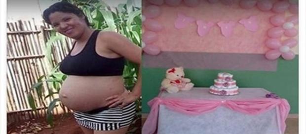 Grávida tem surpresa ao fazer chá de fraldas (Foto: Facebook)