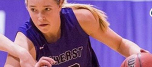 Amherst's Ali Doswell leads the top ranked Purple & White in scoring with 12.8 ppg. The team averages 70.2 ppg. (Amherst Athletics)