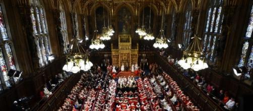 La Camera dei Lord, uno dei due rami del Parlamento britannico