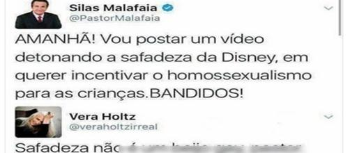 Pastor Silas Malafaia critica desenho da Disney.