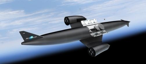 Spazioplano Skylon in orbita con cargo aperto