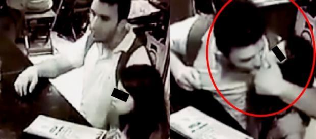 Pedófilo abusa de menina em pleno bar e vídeo mostra tudo