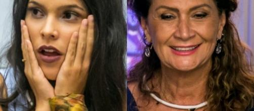 """Ieda (à esquerda) faz revelações no """"Big Brother Brasil"""""""