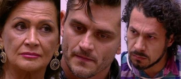 Enquete já mostra possível resultado do Paredão entre Marcos, Rômulo e Ieda (Foto: TV Globo)