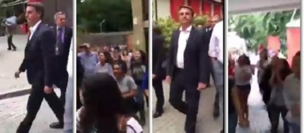 Jair Bolsonaro foi hostilizado por estudantes do Mackenzie (Foto: Reprodução)