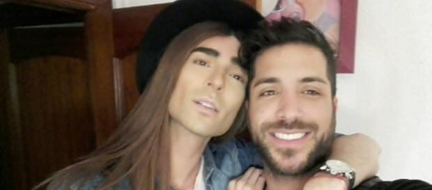 Miguel y Alain en las fallas de Valencia