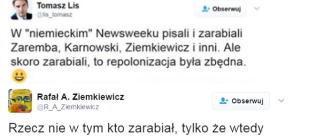 Rafał Ziemkiewicz po jakimś czasie dosadnie odpowiedział Lisowi.