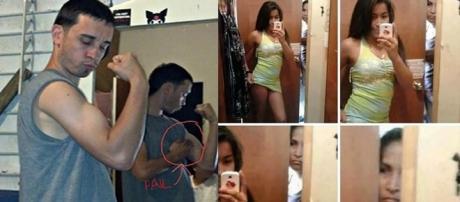 Pessoas que não sabem como tirar uma selfie
