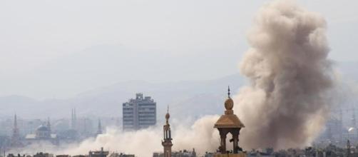 Damasco durante la prima fase del combattimento