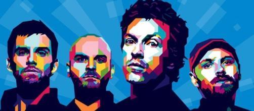 Ritratto stilizzato dei Coldplay