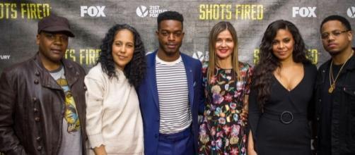 Shots Fired cast and creators in NYC (photo via Bernard Smalls)