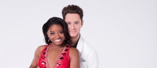 "Simone Biles and Sasha Farbeer on ""Dancing with the Stars"" - Photo: Blasting News Library - go.com"