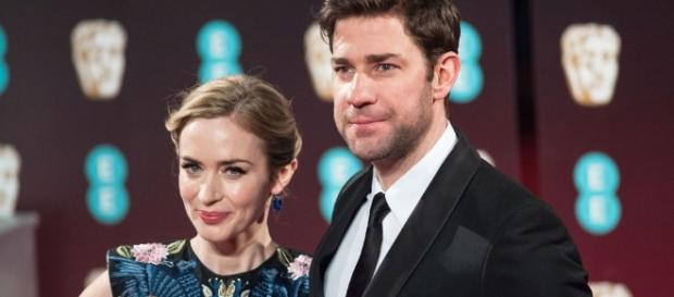 Blunt and Kraskinski, together at last! Photo via Emily Blunt and John Krasinski Costar in First Movie Together ... - harpersbazaar.com