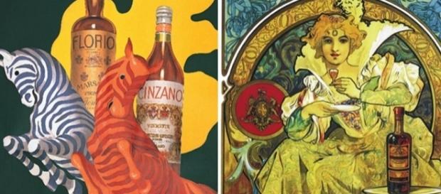 Propagandas de bebidas antes da era das mulheres seminuas. Reprodução/Twitter.