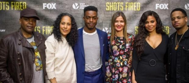 Shots Fired cast and creators in NYC (photo via Bernard Smalls)