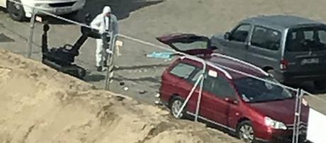L'auto dell'attentatore di Anversa