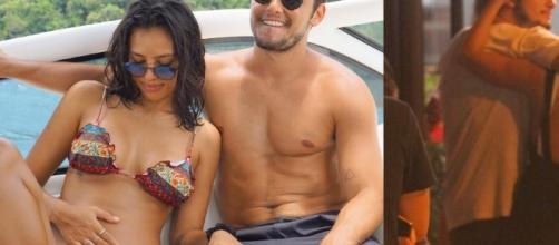 Bruno Gissoni e Yanna Lavigne foram flagrados juntos em restaurante de comida japonesa. Segundo jornal EXTRA, eles estariam morando junto. Confira!