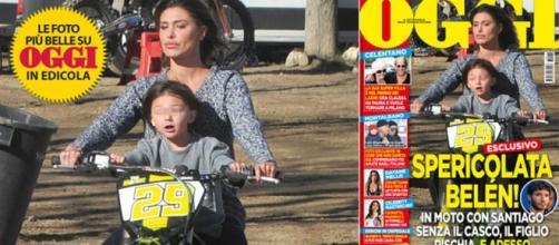 Replica Belen accuse in moto senza casco | Velvet Gossip Italia - velvetgossip.it