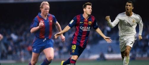 Ronald Koeman, Leo Messi y Cristiano Ronaldo