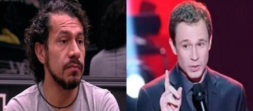 Tiago Leifert e Rômulo se desentendem ao vivo - Foto/Reprodução Globo