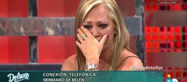 Belén Esteban llora en directo al escuchar el perdón público de su ... - europapress.es
