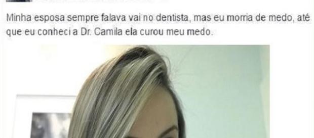 Dentista conhecida como Camila, curou medo de paciente somente com sua beleza.
