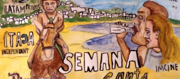 Las playas de Acapulco sirven de locación para la Semana Santa de Alejandra Marques.