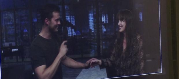 Os atores Jamie Dornan e Dakota Johnson
