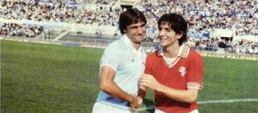 Bruno Giordano e Paolo Rossi, tra i calciatori più noti coinvolti nello scandalo del calciscommesse nel 1980