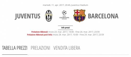 Champions League, Juventus-Barcellona trasmessa in chiaro. Parte vendita biglietti (http://www.juventus.com)
