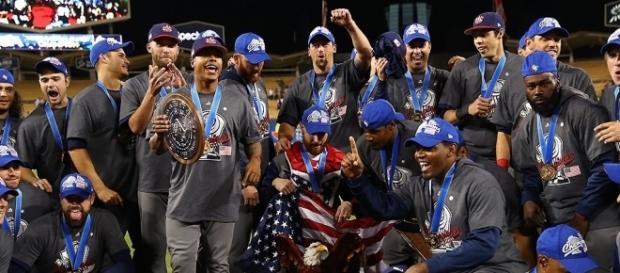 Contra as expectativas, norte-americanos vencem o clássico mundial de baseball (Foto: Reprodução/Twitter)