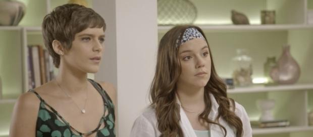 Letícia e Marina na novela A lei do Amor (Divulgação/Globo)