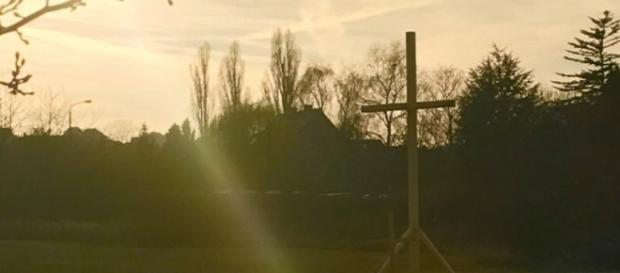 Marbach: Das Protestkreuz wurde entfernt