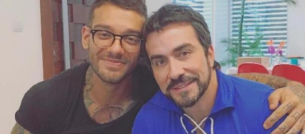 Padre Fábio de Melo brinca com o porte físico de Lucas Lucco em post de rede social