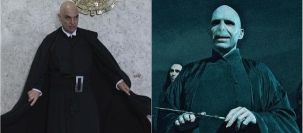 Seriam Alexandre de Moraes e Voldemort a mesma pessoa? Internautas acham que sim