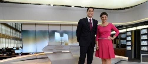 """Evaristo Costa e Sandra Annenberg no """"JH"""""""