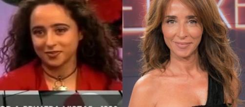 María Patiño en su primera aparición televisiva.