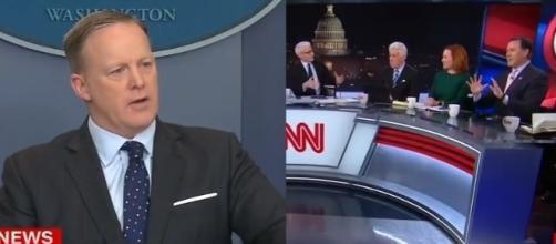 Sean Spicer on CNN, via YouTube