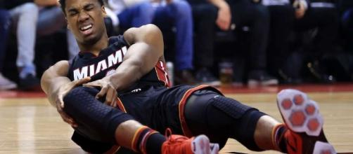 The Miami Heat's Hassan Whiteside suffers sprained MCL and is ... - givemesport.com