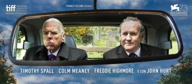 Il viaggio con T. Spall e C. Meaney, da domani al cinema.