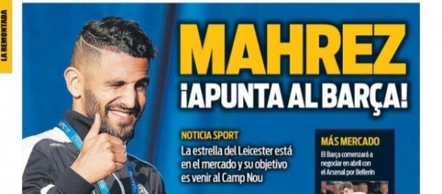 Mahrez à la une du journal espagnol Sport