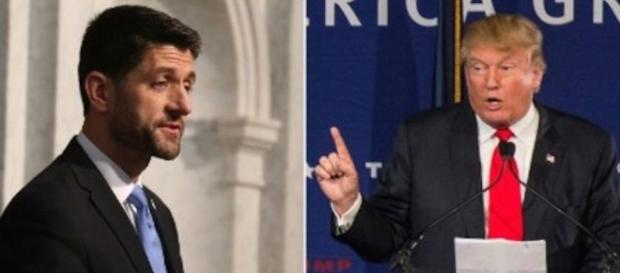 Paul Ryan and Donald Trump. Image by the DailyBail.com