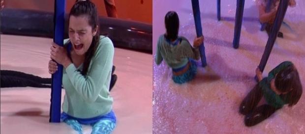 Sister é eliminada de prova (Foto: reprodução TV Globo)