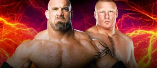 Goldberg and Brock Lesnar will headline the 'WrestleMania 33' match card from Orlando, FL. [Image via Blasting News image library/inquisitr.com]