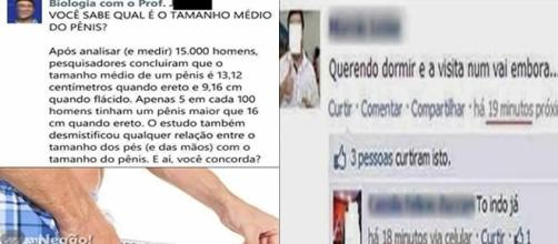 Postagens bizarras e estranhas no Facebook