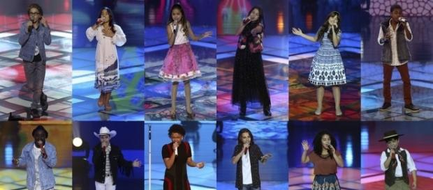 Candidatos se enfrentam na final do 'The Voice Kids'